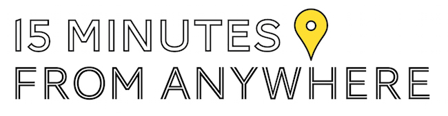 15 minutes from anywhere logo