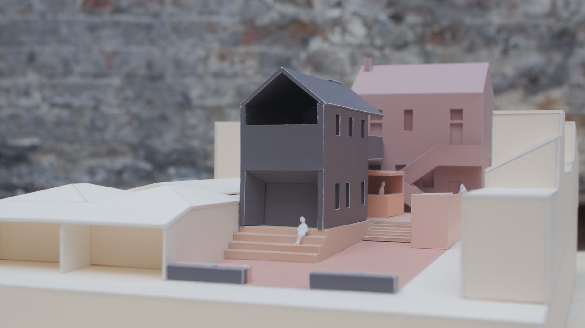 Theatre design model side/front view