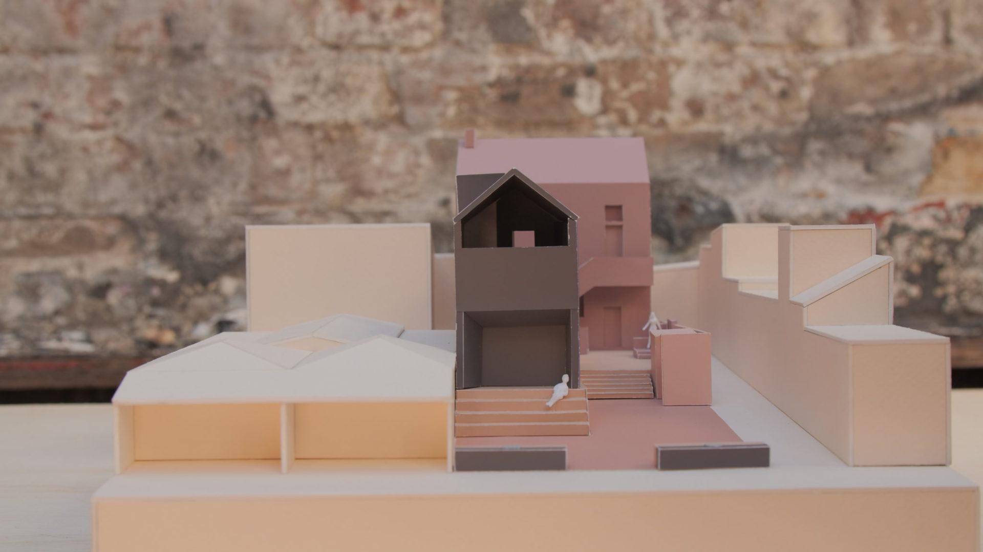 theatre design model front view