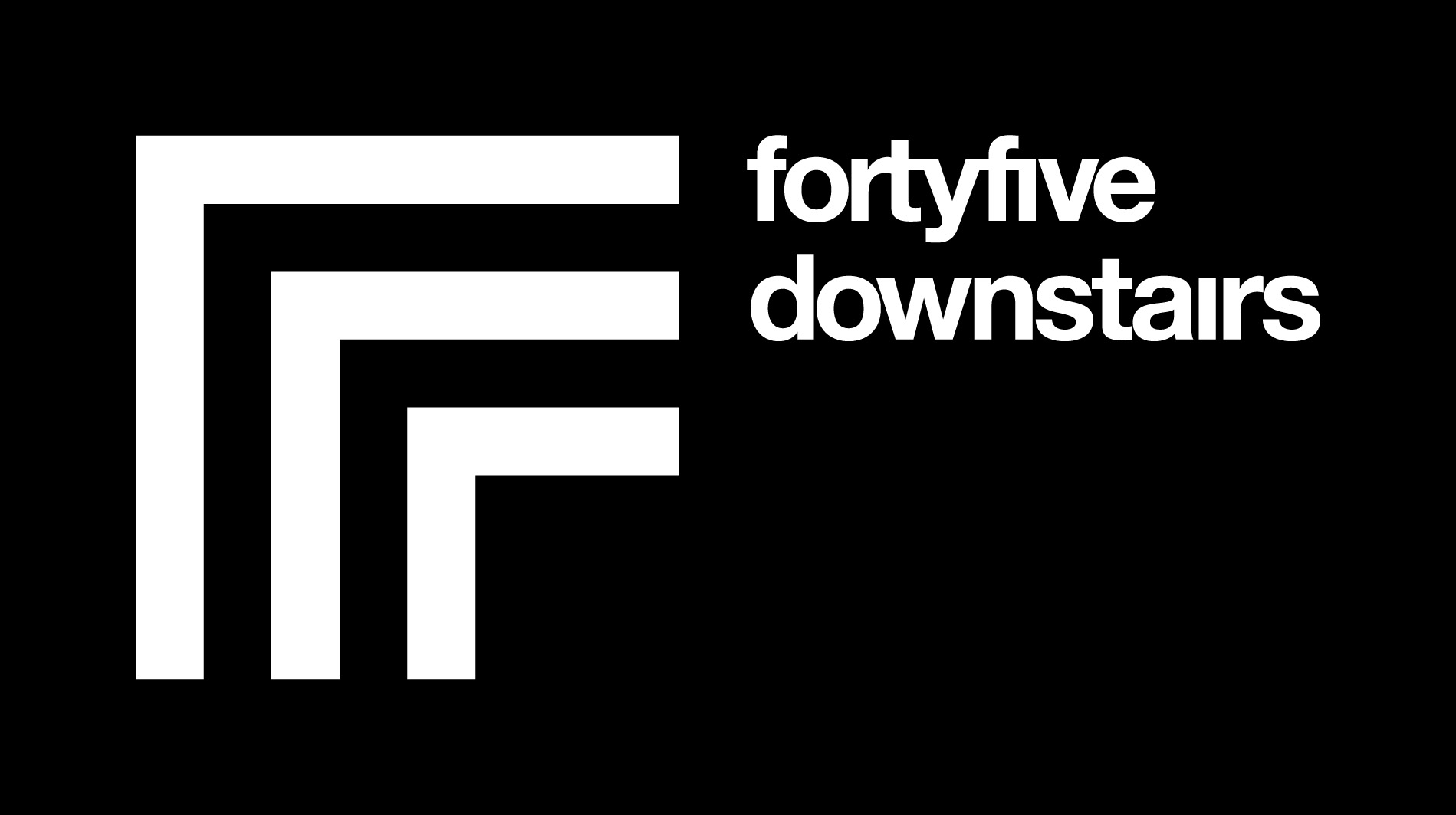 fortyfive downstairs logo