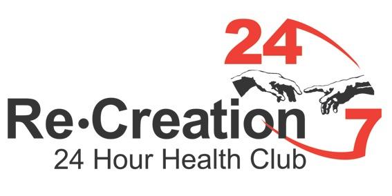 re.creation 24 hour health club logo